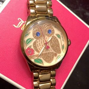 Rose gold Betsey Johnson Watch w/ Owl in face.